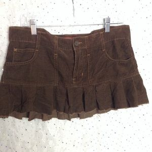 ABERCROMBIE & FITCH Brown Corduroy Ruffle Skirt 6